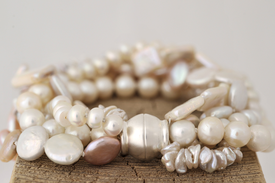 Armband Perlen Silber
