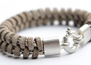 Sabine-Hasselbach-Armband-Silber-Herrenarmband-Herrenschmuck-Leder-braun