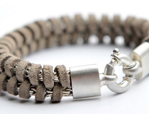 Armband Silber Leder