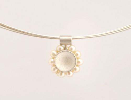 Kette Perlen Silber
