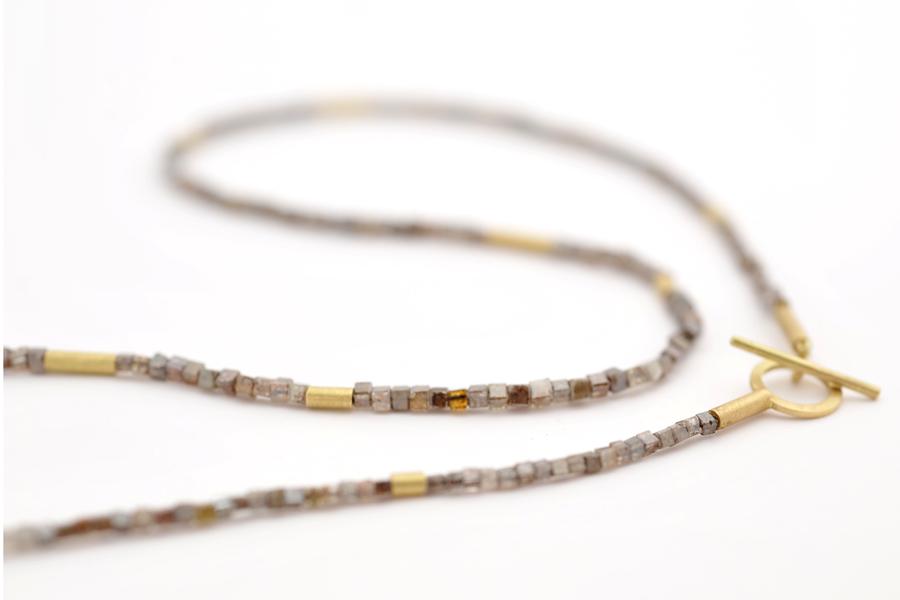 Sabine-Hasselbach-Kette-Diamant-Diamantkette-braun-Gold-Knebel-Verschluss