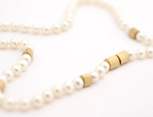 Kette Perlen Gold