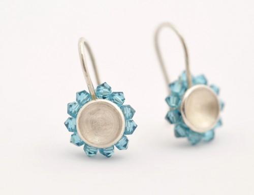 Ohrringe Silber Swarowskiperlen