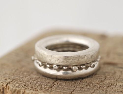 Ring Silber Brillanten